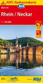 Radtourenkarte Rhein Neckar - ADFC Fahrradkarten bei