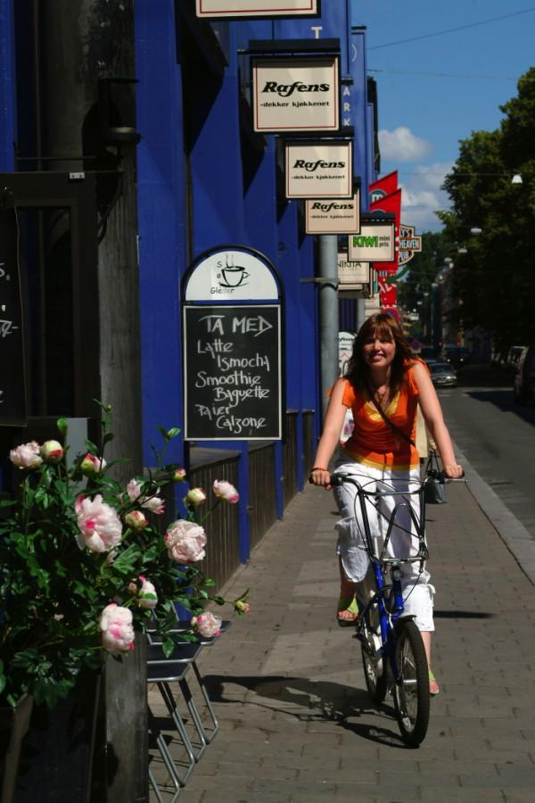 Radlerin in Oslo Bild VisitNorway