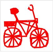 Das rote Fahrrad ist das Logo von fahrradtouren.de