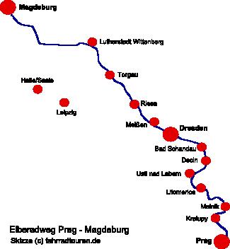 Prag Karte Europa.Elberadweg Und Tipp Radkarte Elbe Radweg Prag Dresden Magdeburg