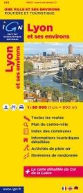 Lyon und Umgebung IGN Karte 1:80000 Cover bei fahrradtouren.de